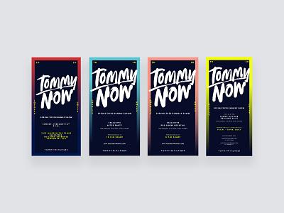 TOMMYNOW Run Show Evites runshow icon typography logo vector invitation design invitation card lettering invitations evites branding design graphic design branding design