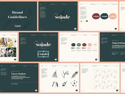 Sojade Brand Guidelines layout corporate manual guidelines brand guidelines brand book brand design typography design logo branding design branding graphic design