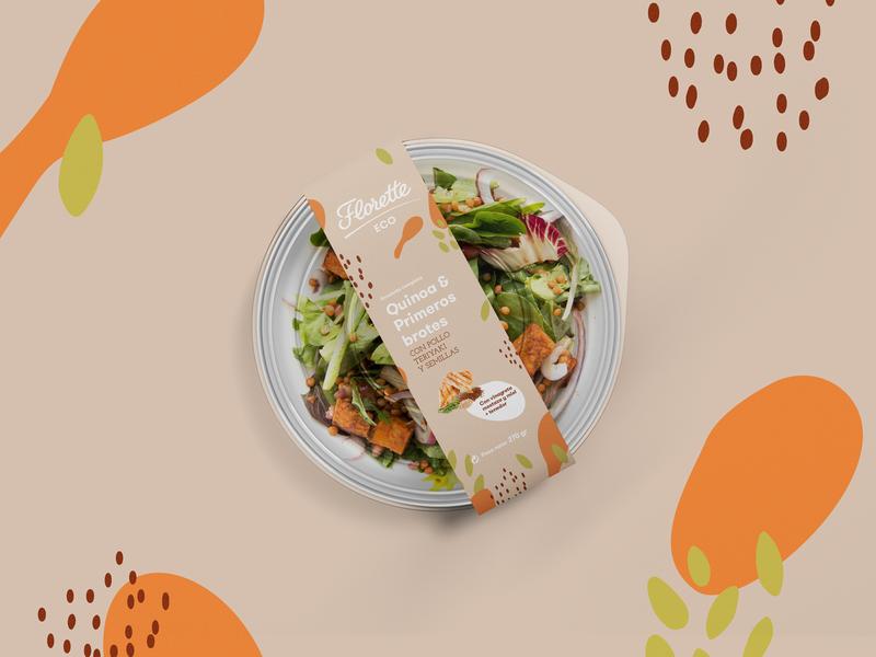 Salad Packaging eco salad typography brand packaging branding design graphic design branding design illustration