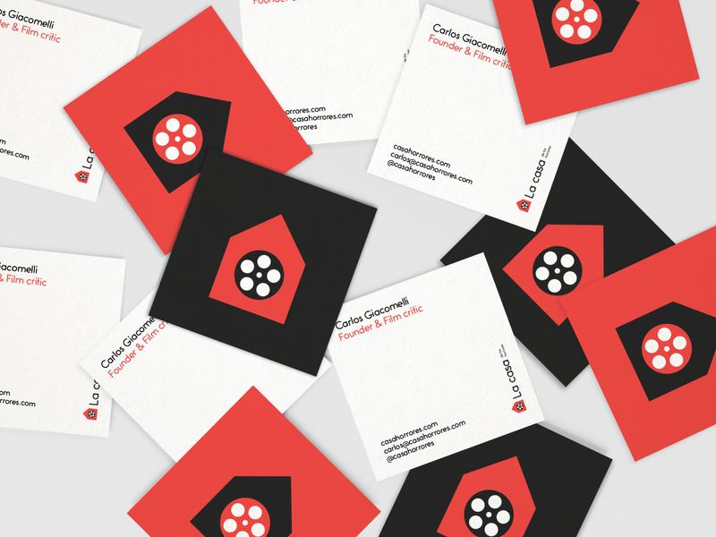 La casa de los horrores - business cards brand design brand business card design business cards logo branding design graphic design branding design