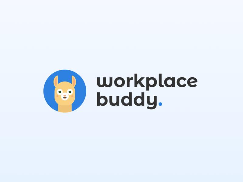 Workplacebuddy Logo alpaca web typography brand logo branding design graphic design branding design illustration