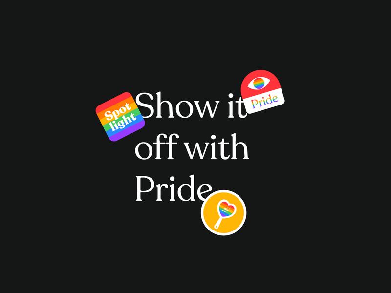 Show it off 🌈 typography brand pride 2019 rainbow pride icon vector ui graphic design design illustration