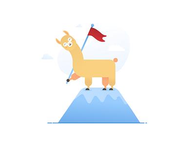 Workplacebuddy Illustration vector ui branding design design branding illustration alpaca
