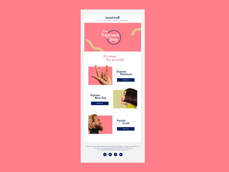 Treatwell mail mailing mail design mail brand ui graphic design branding design