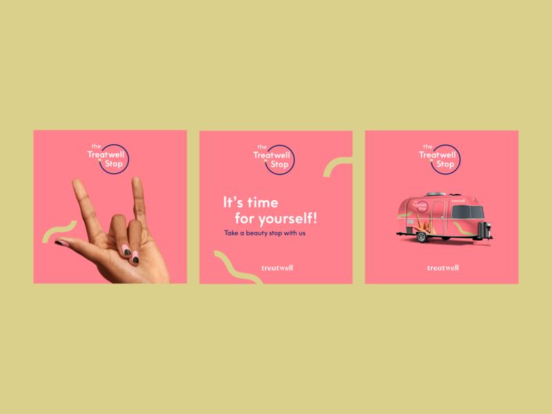 Treatwell posts social media digital design ui graphic design brand branding design design branding illustration poster