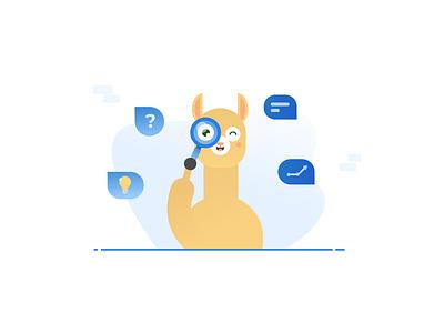 Workplacebuddy illustration scan chatbot alpaca ui vector branding design graphic design design branding illustration