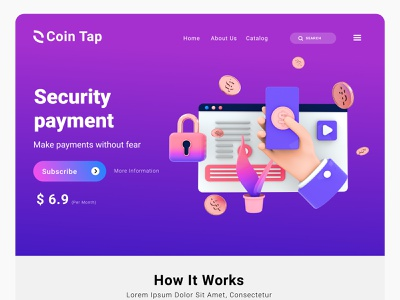 Business Web page security payment walet money illustration motivation icon analytics commerce infographic business pay web
