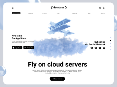 Cloud Data/business technology business commerce base airplane analytics illustration infographic web graphic design 3d data cloud