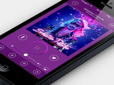 Radio FM iphone ipad ui app application interface design