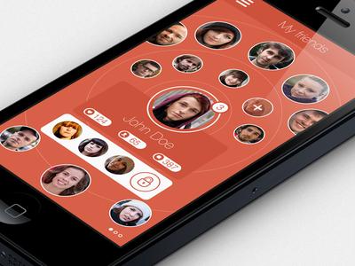 My friends Iphone UI