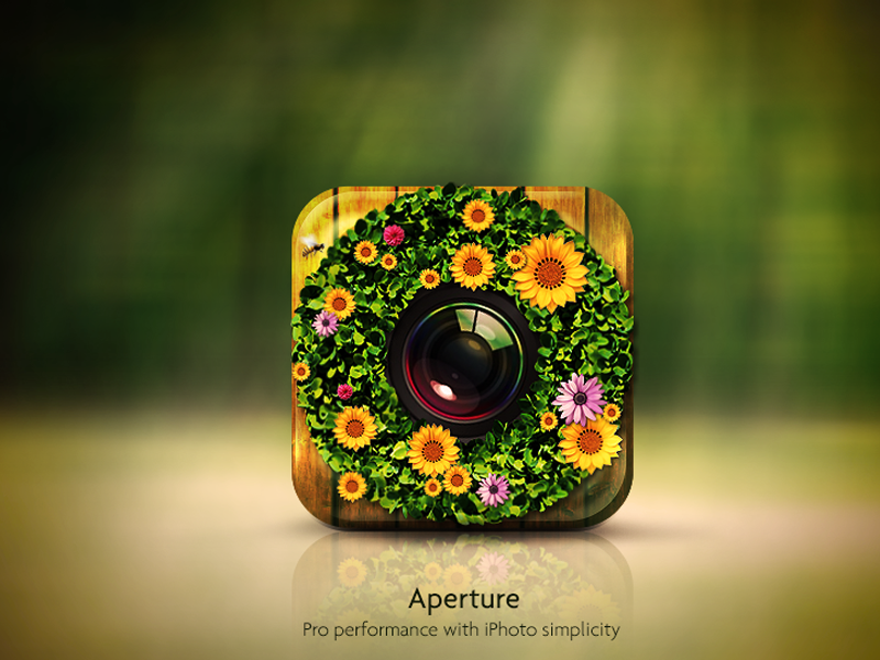 Aperture IOS Icon icon app wood iphone ios aperture note green apple