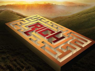 Rich Maze 3d photoshop maze sunset
