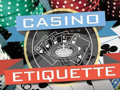 Casino Etiquette logo casino gambling poker vegas banner
