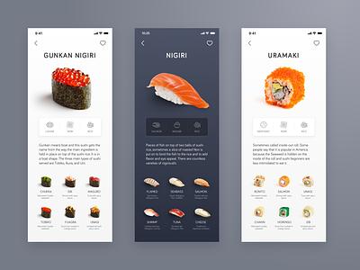 Sushi App Concept design ui