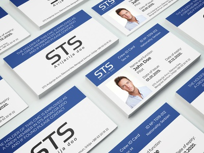 STS Aviation id cards id-cards graphic  design id card id-card