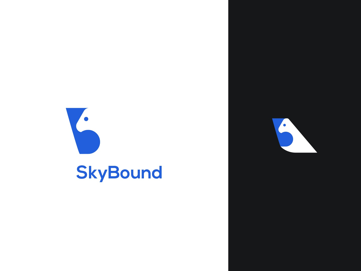 SkyBound airplane boovpoov flying simple clean airtrack pioneer dailylogochallenge day12 airplain logo wings airline skybound