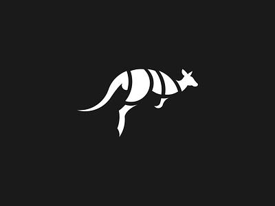 Kangaroo blackandwhite clean illustration dailylogo adobe illustrator vector logo sunnies heaps hopo boovpoov goldenratio kangaroo dailylogochallenge