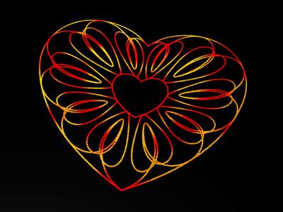 Guilloche Hearts Foil elegant happy valntines hearts guilloche red gold