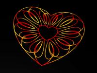 Guilloche Hearts Foil