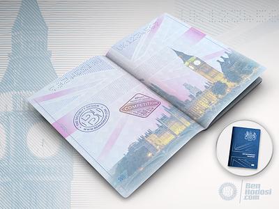 UK Brexit passport proposal london england parliament big ben contest brexit passport security design line-width modulation guilloche