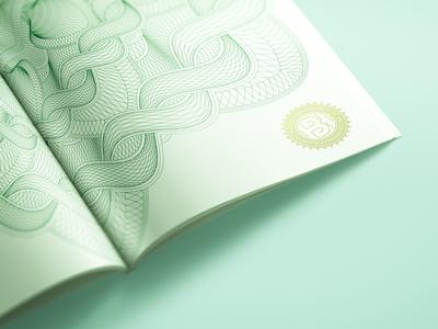 Green Guilloché Rosette passport infinite green security print design mandala high security money banknote guilloché guilloche rosette