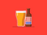 Brew pub brewery beer label beer 2d design illustration