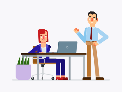 Vector Flat Design Business Characters illustration design character design character vector adobe illustrator flat design business