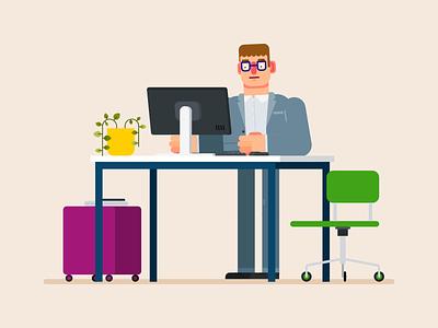 Vector Flat Design Business Character illustration design character design character vector adobe illustrator flat design business