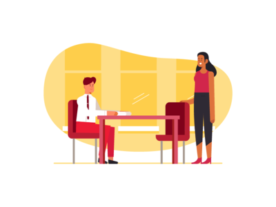 Meeting professional work business office meeting character design design people illustration