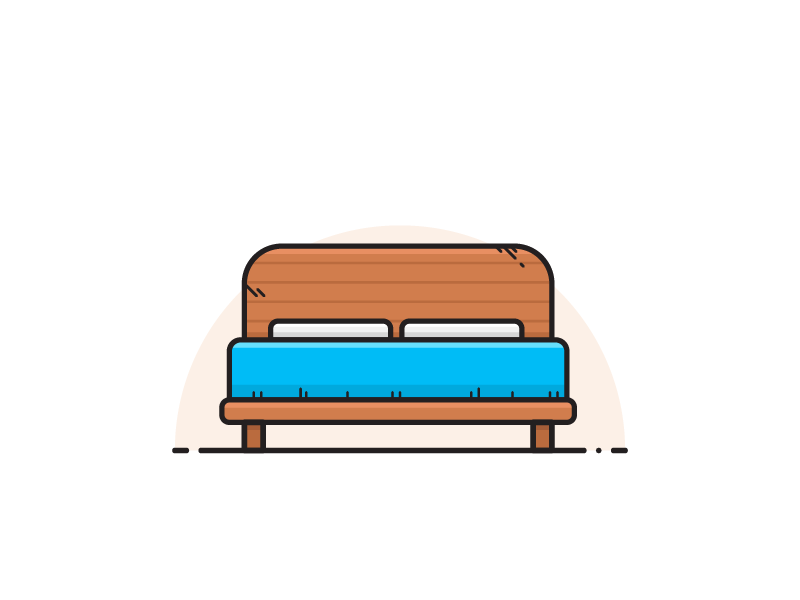 Bed ui icon vector bed real estate illustration design 2d