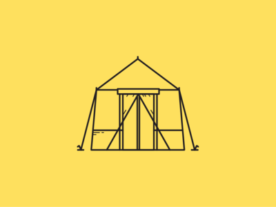 Tent adventure tool tent camping design illustration ui 2d