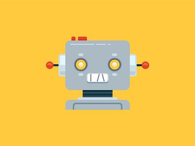 Bot profile character design skynet icon robot illustration design animation 2d
