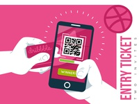 Dribbble Entry Ticket