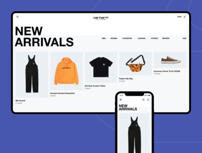 Carhatt Website Concept design website branding logo flat web ux ui typography