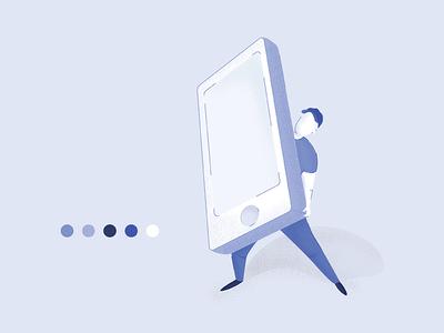 Man Holding Phone | Illustration