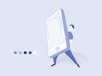 Man Holding Phone | Illustration