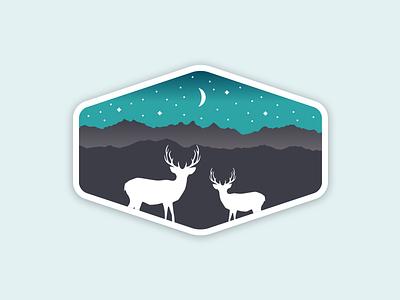 Badge Illustration nightsky illustration badge