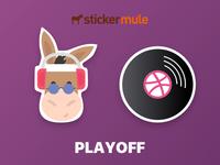 Sticker mule festival playoff