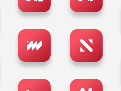 Logo explorations for a new app