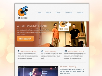 New Canton Fitness Homepage homepage fitness redesign