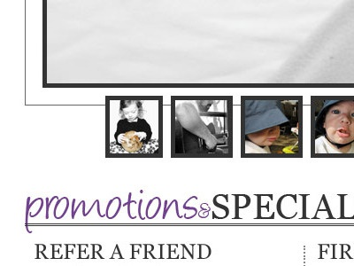 Photo Website Part...well, I forget what part I'm on. black and white photography purple simple homepage website