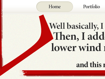 And this racing stripe here is pretty sharp. home page portfolio red brown worn