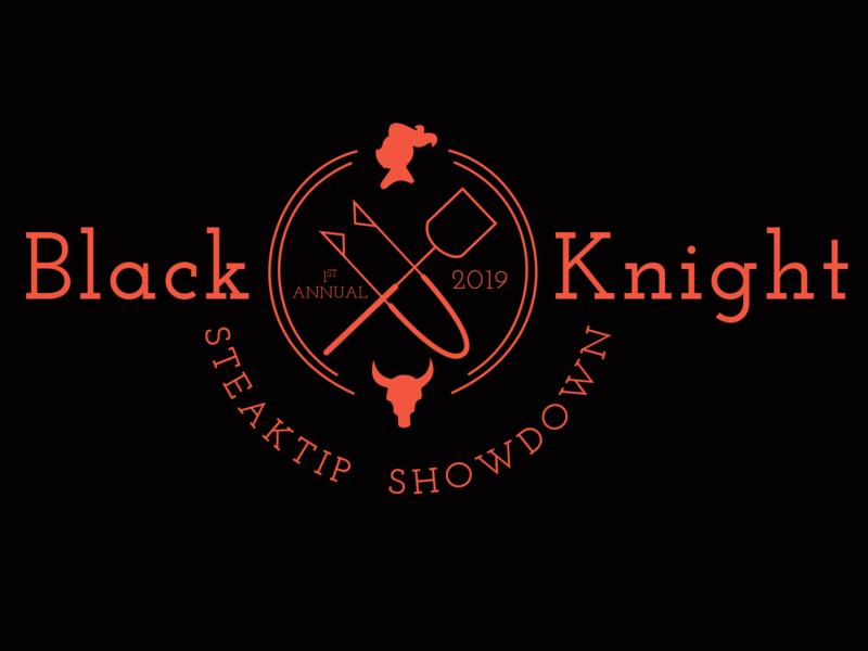 Black Knight Steak Tip Showdown graphic design tshirt