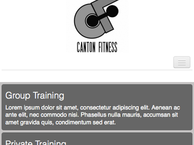 Canton Fitness Wireframing wireframing black white responsive mobile