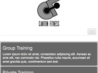 Canton Fitness Wireframing