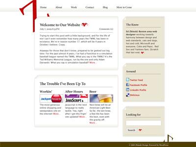 New Zbinski Homepage website redesign wordpress brown red