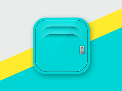 FitKit - Mobile App Icon icon app icon locker illustration locker kit app logo logo