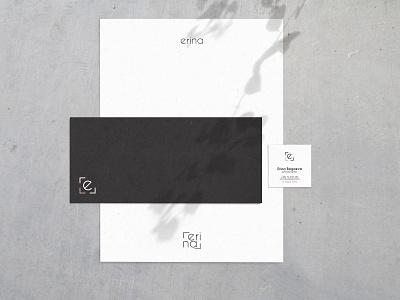 Erina - Logo Usage visual identity logo design logo usage erina branding logo