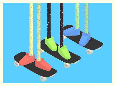 Skateboarder Study #04928/12w just 3 boyz isometric hairy legs skateboard skater skate