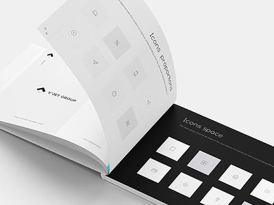 Brand Book print book grid minimalism logo icon graphic design style guide brand brand identity brand book black and white